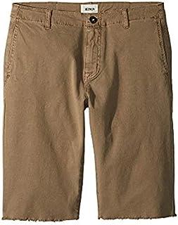 ハドソン Hudson Kids キッズ 男の子 ショーツ 半ズボン Dark Chino Raw Hem Sateen Chino Shorts in Dark [並行輸入品]