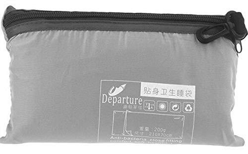 Sleeping Bags HDS Ultraleichte Outdoor-Schlafsack Liner Polyester-Rohseide tragbares Einzel Schlafsäcke Camping-Reisen Gesunden Außenschlafsack (Color : Gra)