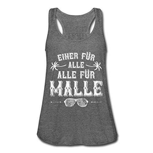 Spreadshirt Einer Für Alle Alle Für Malle Mallorca Frauen Flowy Tank Top, L, Dunkelgrau meliert