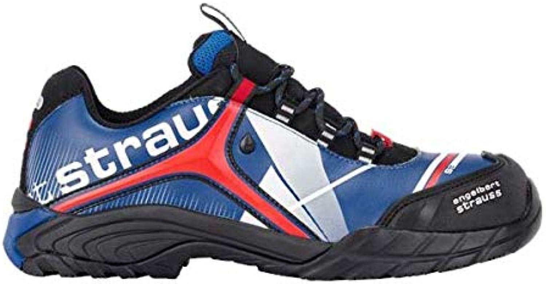 Engulert Strauss 8P93.58.7.39 Turis Safety skor skor skor Storlek 39 Corn blå  röd  kreditgaranti