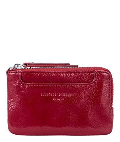 Liebeskind Berlin Glossy SLG-Matti Wallet Small, Accessori da Viaggio-Portafogli Donna, Rosso (Dahlia Red), 1x13x8 Centimeters (B x H x T)