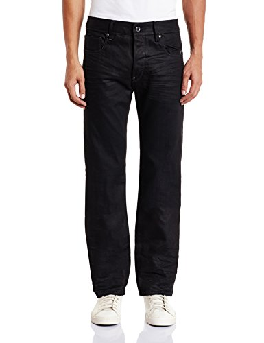 G-STAR Herren Attacc Straight Jeans, Schwarz (Medium Aged 6578-071), 27W / 34L