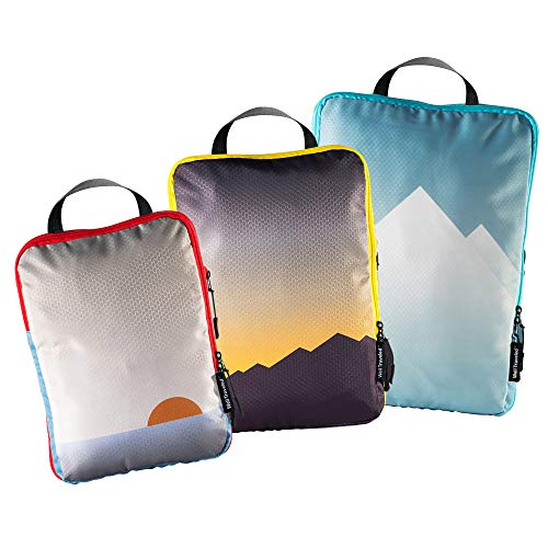 Well Traveled - 3pc Compression Packing Cubes for Travel - Luggage Organizer, Suitcase Organizer & Backpack Organizer with Space Saver Travel Bags for...