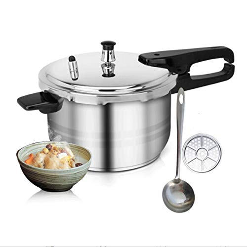 Xiaoxian Pressure Cooker, Double Bottom Pressure Cooker, Gas, Induction Cooker, Universal, Stainless Steel Color, 20/22/24cm, Best Choice For Kitchen Utensils Steamed out food