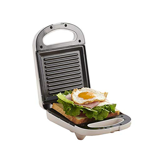 650 Watt Sandwich Maker | Edelstahl Sandwichtoaster | Paninitoaster | Elektrogrill | Wärmeisolierter Handgriff | Antihaftbeschichtung | Thermostat (2er Sandwichmaker)