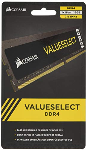 Corsair Memoria 16 GB (1 x 16 GB) DDR4 2133 MHz CL15, Nero