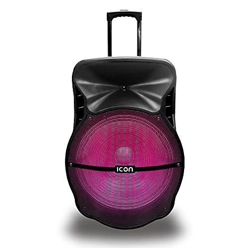 ICON Bafle inalámbrico Bluetooth 18' Pulgadas 20,000 W PMPO con Luz Led