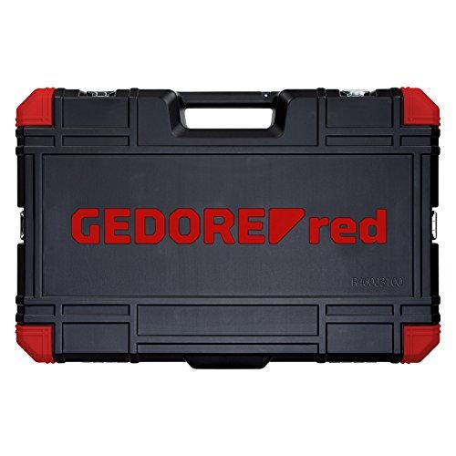GEDORE red Steckschlüsselsatz, 100-teilig, Mit Umschaltknarre, Ratsche, Steckschlüssel und Bitsatz, Hammer, Ringmaulschlüssel und Zangen - 4