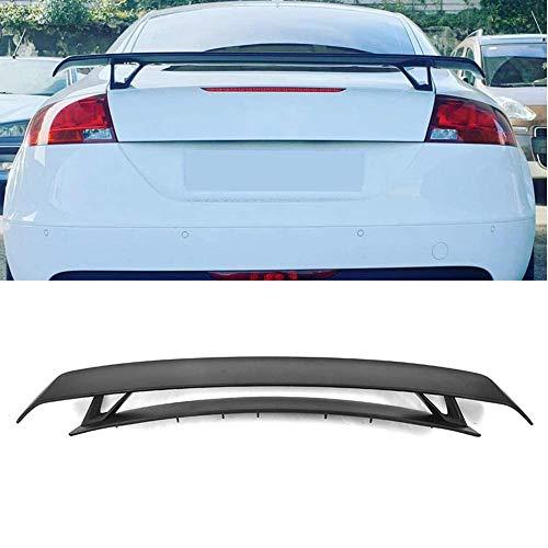 OTBKNB Heckspoiler, Carbon Kofferraum Kofferraum Doppeldeck Spoiler Wing Lip Für Audi Tt Mk2 8J Tts Coupé Cabrio A5 A6 A7