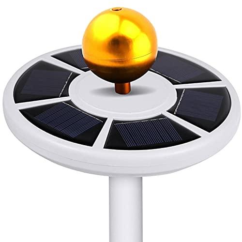 Deluxe Solar Flag Pole Light, Luce LED a Bandiera Super Luminosa da Incasso, 26 Pezzi di Perline Ad Alta Luminosità Senza Abbagliamento per la Maggior Parte dei Pali della Bandiera da Campeggio All ap