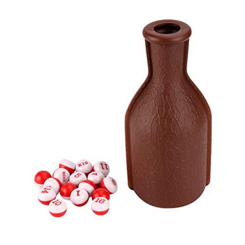 Best Buy! BESPORTBLE Billiard Shaker Bottle with 16 Numbered Tally Balls Kelly Pool Bottle for Club ...