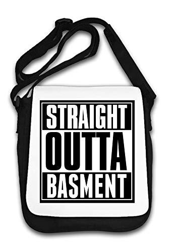 Straight Outta Basement Slogan Borsa a tracolla