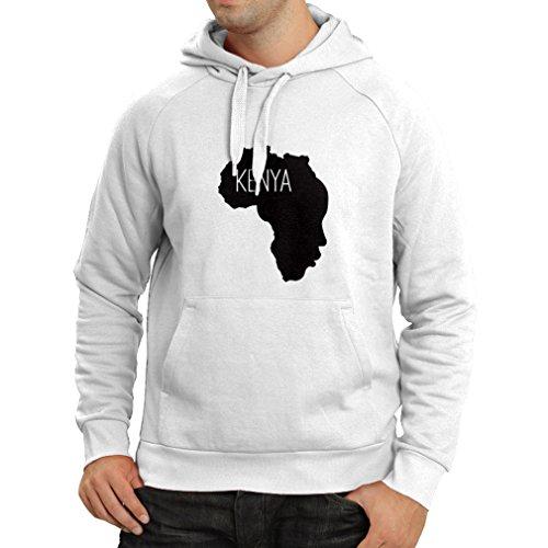 lepni.me Sudadera con Capucha Salvar Kenia - Camisa política, Refranes de la Paz (XX-Large Blanco Negro)