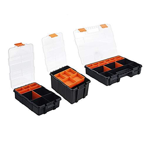 Reemplazo extraíble Portátil de piezas metálicas Caja de tornillo Caja de almacenamiento de piezas de metal destornillador de la herramienta de reparación automática de herramientas de plástico caja d