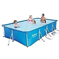 プール 子供の屋外スイミングプール 大人の無料インフレータブルパドリングプール 大きなプール 複数の人が遊ぶのに適しています (Color : Blue, Size : 400x211x81cm)