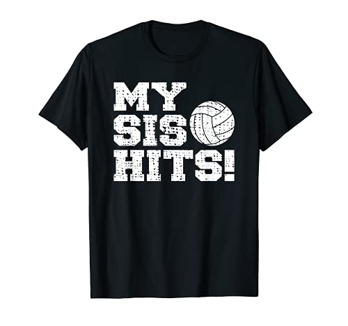 Hermana Hermano Divertido Voleibol Camiseta