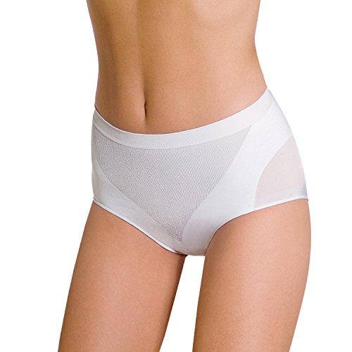 POMPEA Slip Donna Contenitivo Modella e Contiene Senza Cuciture (S-M, Bianco)