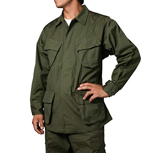 (セスラ)SESSLERジャングルファティーグジャケット(ベトナム後期型) XS-R OD(オリーブドラブ)