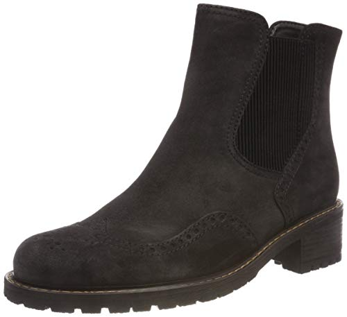 Gabor Shoes Damen Comfort Basic Chelsea Boots, Grau (Dark Grey (Mel.) 39), 38.5 EU