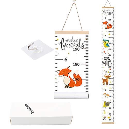 Bingolar Kinder Messlatte Wachstum Wall Chart Höhe Diagramm Art zum Aufhängen Herrscher für Kinder Schlafzimmer Kinderzimmer Wandtattoo Decor Abnehmbare Höhe und Wachstum Diagramm.