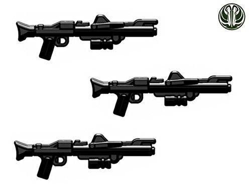 3X DC-15 Blaster Gewehr Custom Waffen für Lego Star Wars Figuren -Schwarz-