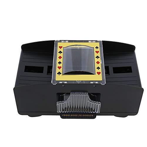 Kartenmischer Elektrisch 2 Decks Kartenmischmaschine Automatisches Poker-Mischen Batteriebetrieben (Batterien nicht enthalten),für den Home Party Club Kartenmischer & Spielkarten