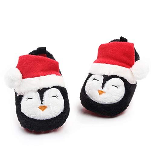 FRAUIT Pantofole Peluche Neonata Divertenti Babbo Natale Ciabatte Bambino Invernali Da Casa Natalizio Natalizi Scarpine Primi Passi Bimba Inverno Autunno Scarpe Neonato Battesimo