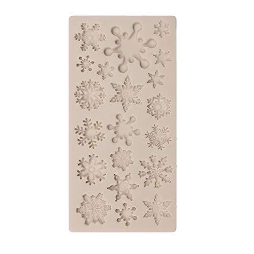 Gekai Emporte-pièces en silicone en forme de flocon de neige de Noël en acier inoxydable