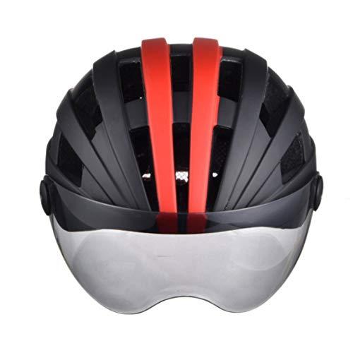 Gaoominy Casco de Bicicleta con Gafas MagnéTicas Casco de Bicicleta Ajustable para Hombres/Mujeres Casco de Seguridad de Ciclismo de Monta?A de Carretera