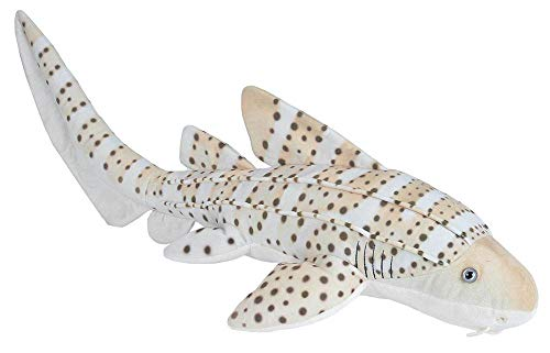 Wild Republic Zebra Shark Plush, Stuffed Animal, Plush Toy, Gifts for Kids, Living Ocean 30'