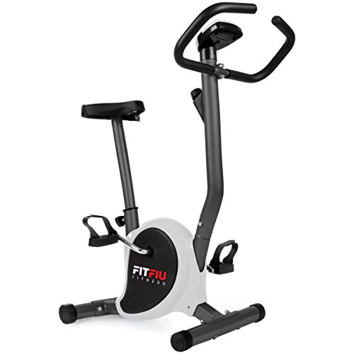 Fitfiu Fitness BEST-100 - Bicicleta estática ultracompacta, regulable en 8 niveles de resistencia, sillín ajustable en...