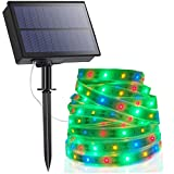 Tira LED Solar, Tiras de Luces 5M Impermeable IP67 Luces LED con 2 Modos Strip Light para Navidad Fiestas Bodas Jardines...