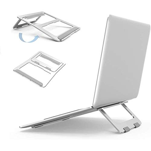 Laptop Stand, Ergonomic Aluminum Metal Stand,Computer,Tablet,Notebook Holder foldable Stand Cooling Pad Compatible with MacBook Air Pro, iPad, Dell XPS, HP, Lenovo, Huawei More 7-15.6' Laptops