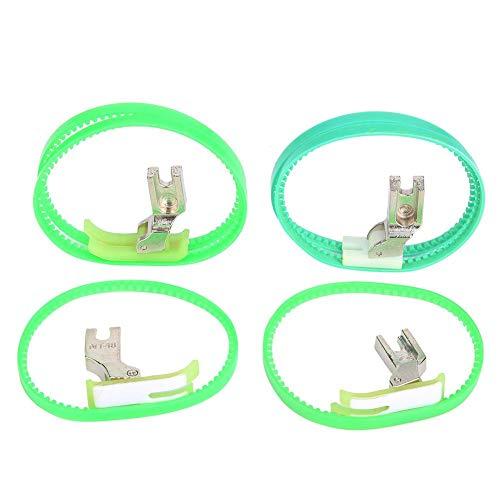 Prensatelas para máquina de coser, BiuZi 4 piezas Diferentes máquinas de coser industriales Prensatelas de rodillo Rodillo doble Izquierda/Derecha Prensatelas de un solo lado