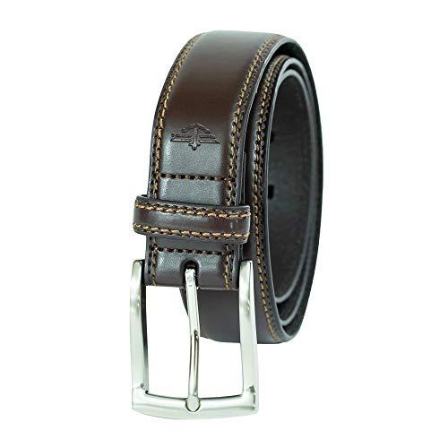 Dockers - Cinturón de piel para hombre - Marrón - 44