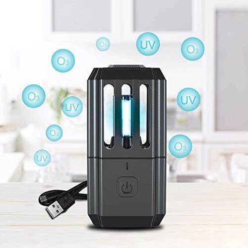 Bonlux UV Desinfektionslampe 5W USB Tragbare UVC+Ozon Sterilisator Lampe Luftreiniger sterilisation Geruchsbeseitigung Bakterien für Auto Schlafzimmer Badezimmer Wohnzimmer Kleiderschrank