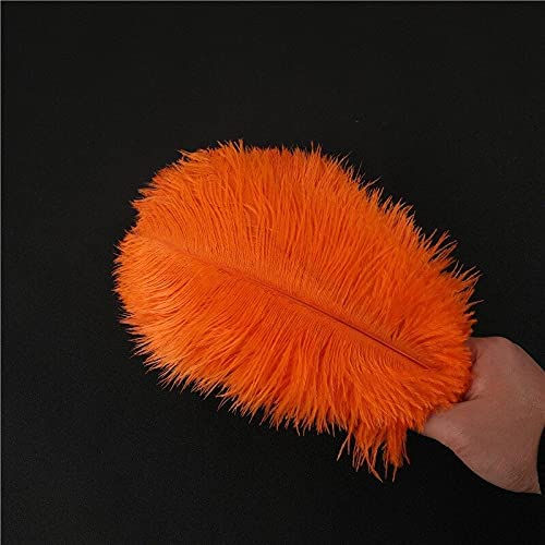 GreenGardenn Finally resale start unisex 10-200Pcs lot Orange Ostrich Feather 15-70CM DIY Fe
