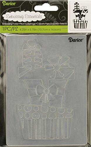 Darice Embossing Folder Cartella per Goffratura Mascherina Pila di Regali, 10.8x14.6x0.3 cm