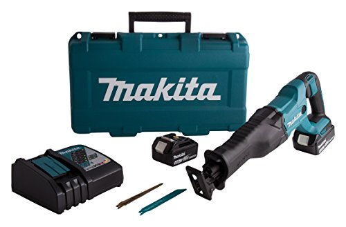 Makita DJR186RME 18V Li-Ion LXT Reciprocating Saw Complete with 2 x 4.0 Ah Li-Ion Batteries and Charger Supplied in A Carry Case