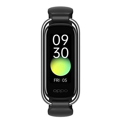 OPPO Band Style - Bracelet Connecté - Mesure Cardiaque et Oxymètre 24h/24 - Trackers d'Activité 12 Modes Sportifs - 2 Bracelets inclus (Style + Sport) - Suivi du Sommeil - Noir