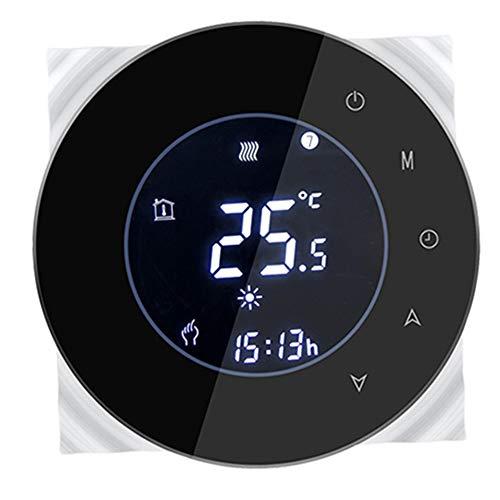 Lydul WiFi Smart Thermostaat, digitaal, rond design voor 3A water, vloerverwarming met elektrische aandrijving voor krommers en ventielen normaal gesloten