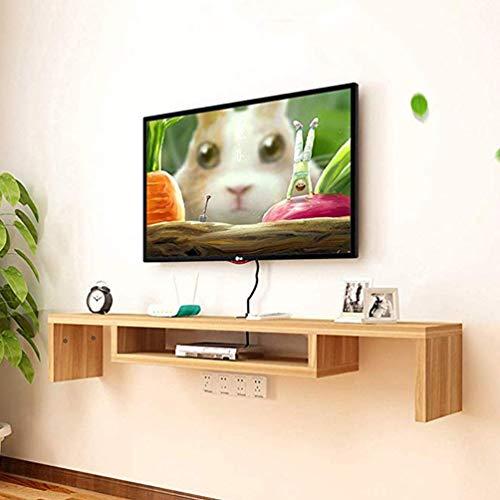 XGYUII Estantería con Forma de U Flotante Soporte de la TV Estante de la Consola de Montaje en Pared Mediateca WiFi Gabinete Set-Top Box Router Estante de la Pared mandos,B