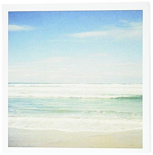 "3dRose Gentle Ocean Waves Beach Theme Art Greeting Cards, 6"" x 6"", Set of 12 (gc_164479_2)"
