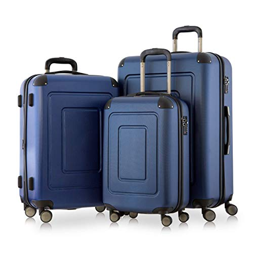 Happy Trolley - 3er Koffer-Set Trolley-Set Rollkoffer Hartschalen-Koffer Reisekoffer...