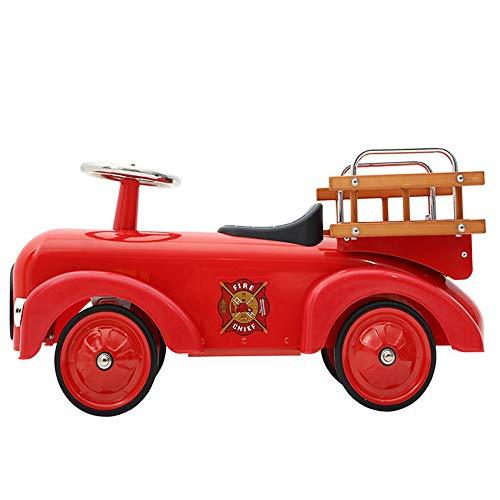Trotteur Bébé Équilibre voiture avec siège et la salle de roues enfants Tir Props Métal Baby Steps Walker Toy for les enfants de plus de 3 ans (Rouge) Pour les tout-petits nourrissons garçons filles