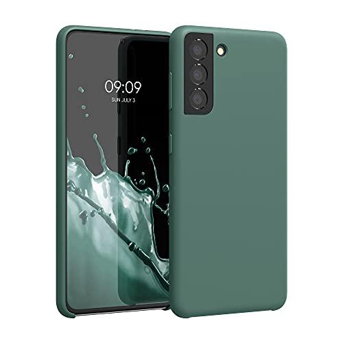 kwmobile Custodia Compatibile con Samsung Galaxy S21 - Cover in Silicone TPU - Back Case per Smartphone - Protezione Gommata Verde Militare