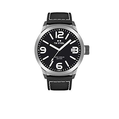 TW Steel Reloj Analógico para Hombre de Cuarzo con Correa en Cuero TWMC29