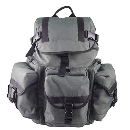 Bag Fashional Fabric Mens Backpack Travelling Multi-functional Large-capacity Casual Fashion Travel Shopping Bag (Color : Gray, Size : S)