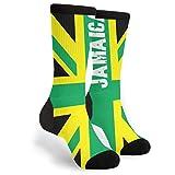 Unisex Fun Novelty Crazy Crew Socks Jamaican Kingdom Flag Dress Socks