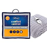 <span class='highlight'><span class='highlight'>Silentnight</span></span> Comfort Control Heated Throw - Fleece Heating Overblanket Electric Heated Throw - Luxury Machine Washable Blanket for Sofa and Bed